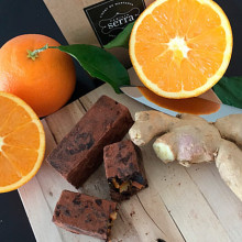 Nougat de naranja y chocolate y jengibre