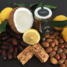 Cinco Barritas Energéticas de Limón y Frutos Secos. 250g