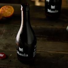 Valenzianisches Craft-Bier Maula mit Blutorange
